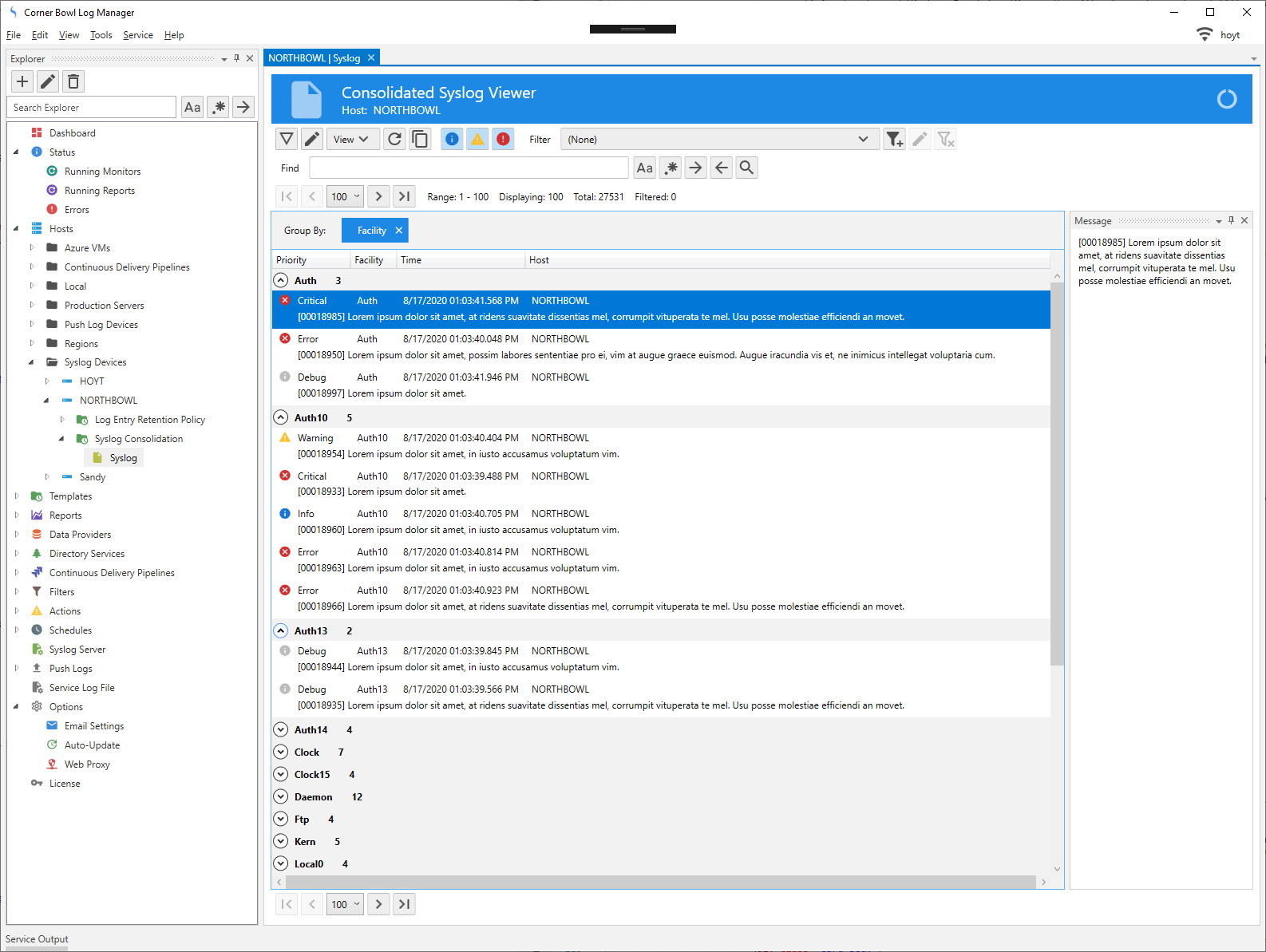 Consolidated Syslog Viewer